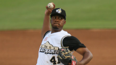 Keyvius Sampson averages 8.69 strikeouts per nine innings.